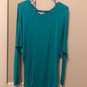 Tops - Omg Sleeve Fitted Bodice Piko Top